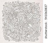 cartoon cute doodles hand drawn ... | Shutterstock .eps vector #541063837