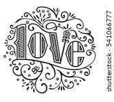 love lettering  in a circle form | Shutterstock .eps vector #541066777