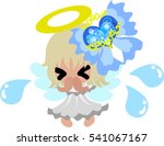 a pretty angel and stylish... | Shutterstock .eps vector #541067167