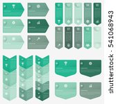 set infographic collection of 4 ... | Shutterstock .eps vector #541068943