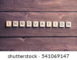 concept of innovation made of... | Shutterstock . vector #541069147