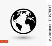 globe earth vector icon | Shutterstock .eps vector #541078567
