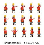set of medieval king characters ... | Shutterstock .eps vector #541104733