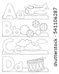 alphabet coloring page. letters ... | Shutterstock .eps vector #541106287
