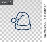 santa hat icon flat. | Shutterstock .eps vector #541108447