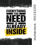 everything you need is already... | Shutterstock .eps vector #541131253