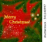 merry christmas gold glittering ...   Shutterstock .eps vector #541140997
