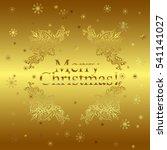 merry christmas gold glittering ...   Shutterstock .eps vector #541141027