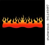 fire icon flames vector... | Shutterstock .eps vector #541145497