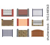 Set Of Flat Fences For...
