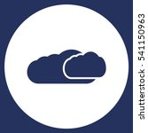 cloud icon vector flat design...