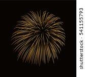 firework gold isolated....   Shutterstock .eps vector #541155793