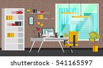 set of colorful interior with...   Shutterstock .eps vector #541165597