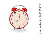 vintage red hand drawn alarm... | Shutterstock .eps vector #541175917