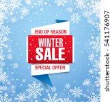 winter sale banner  vector... | Shutterstock .eps vector #541176907