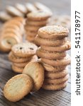 butter cookies on the wooden... | Shutterstock . vector #541178977