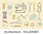sketches of tools and materials ... | Shutterstock .eps vector #541204087