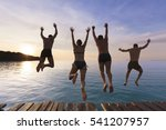 cheerful people having fun... | Shutterstock . vector #541207957