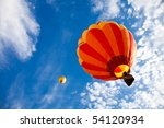 colorful hot air balloons in... | Shutterstock . vector #54120934