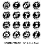 industry icons on stylish round ... | Shutterstock .eps vector #541211563