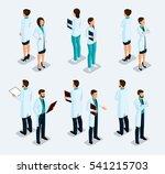 trendy isometric people.... | Shutterstock .eps vector #541215703