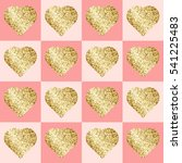 glittering golden hearts in... | Shutterstock .eps vector #541225483