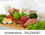 healthy foods. different food...   Shutterstock . vector #541246567