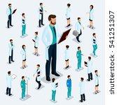 trendy isometric people.... | Shutterstock .eps vector #541251307
