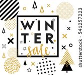 christmas and new year sale... | Shutterstock .eps vector #541257223