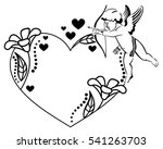 black and white heart shaped...