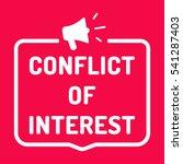 conflict of interest. badge ...   Shutterstock .eps vector #541287403