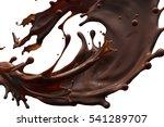 splash of brownish hot coffee... | Shutterstock . vector #541289707