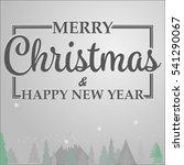 merry christmas card  christmas ...   Shutterstock .eps vector #541290067