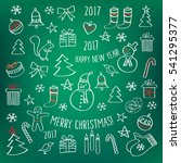merry christmas. happy new year ... | Shutterstock . vector #541295377