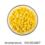 Canned Sweet Corn In Glass Bow...
