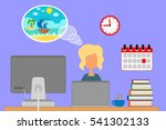 dream about a vacation. | Shutterstock . vector #541302133