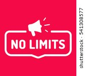no limits. badge  stamp with... | Shutterstock .eps vector #541308577