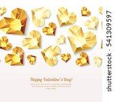 valentines day vector seamless... | Shutterstock .eps vector #541309597