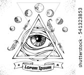 all seeing eye symbol inside... | Shutterstock .eps vector #541323853