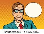 businessman says comic cloud   Shutterstock .eps vector #541324363