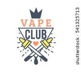 vector vaping badges  modern... | Shutterstock .eps vector #541325713