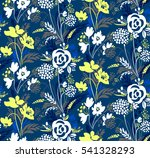 vector floral seamless pattern. ... | Shutterstock .eps vector #541328293