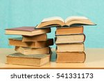 open book  stack of hardback... | Shutterstock . vector #541331173