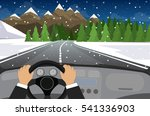 hands on the wheel of a car | Shutterstock .eps vector #541336903
