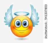 cute angel emoticon with wings  ... | Shutterstock .eps vector #541337803