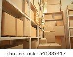 modern warehouse full of... | Shutterstock . vector #541339417