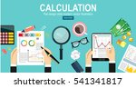 calculation concept.... | Shutterstock .eps vector #541341817