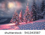 frosty winter night of... | Shutterstock . vector #541343587