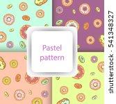 pastel pattern set with glazed... | Shutterstock .eps vector #541348327