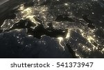 the earth from space at night... | Shutterstock . vector #541373947